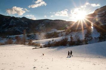Une promenade sous la neige (Trescléoux)
