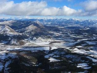 Vue de Beaumont après la neige
